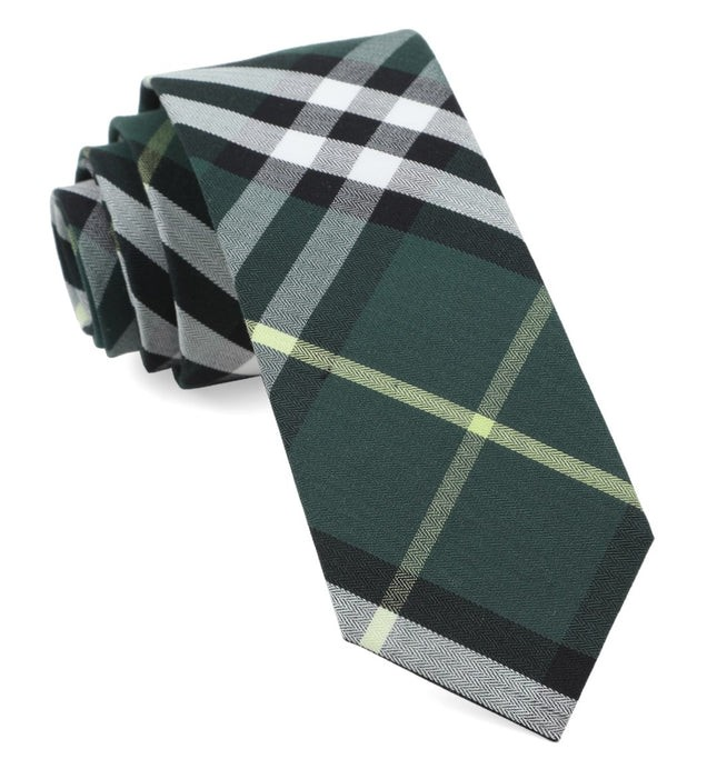 Legion Plaid Hunter Green Tie
