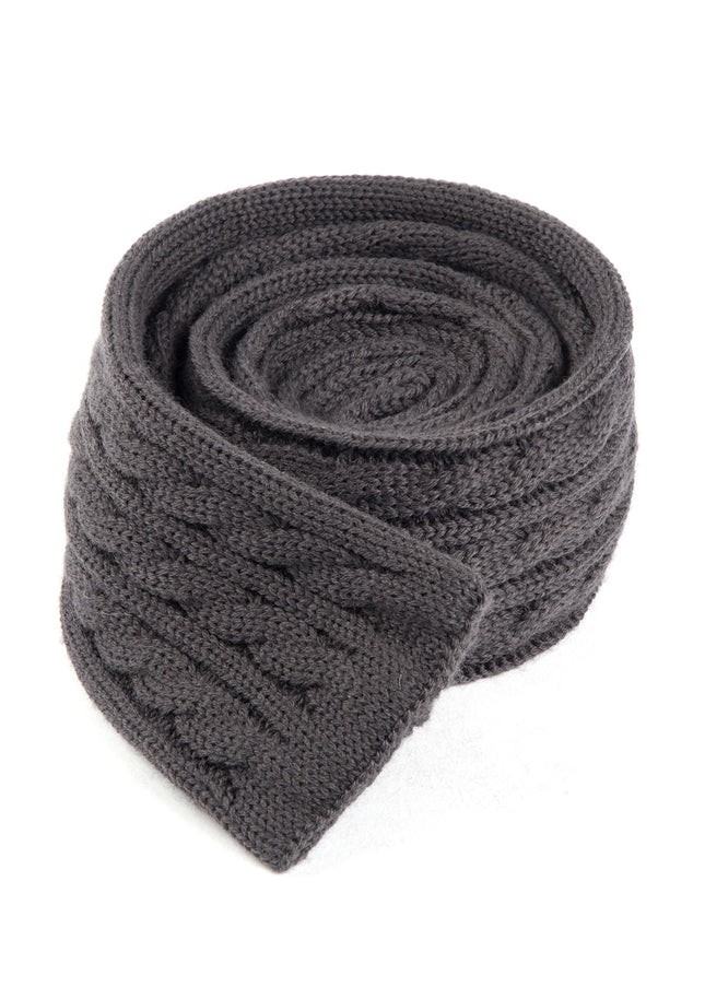 Sweater Knit Charcoal Tie