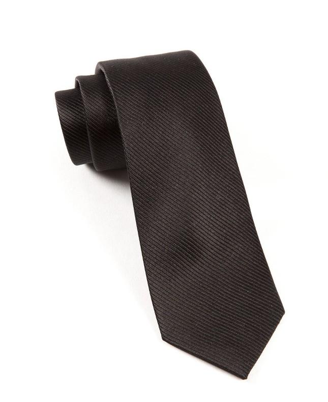 Skinny Solid Black Tie