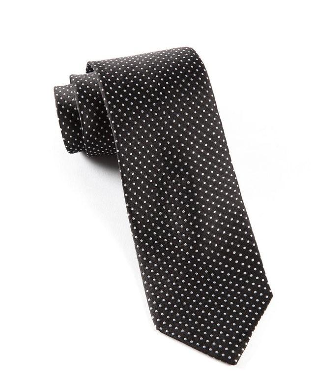 Pindot Black Tie
