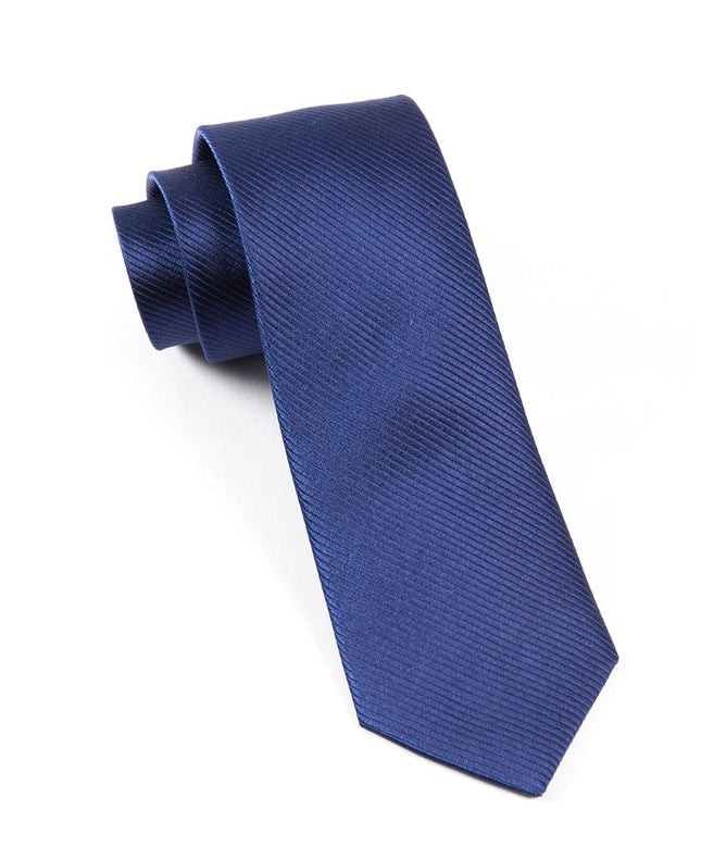 Skinny Solid Navy Tie