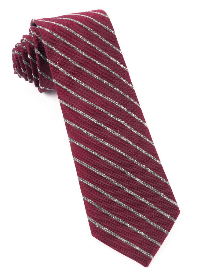 Laser Stripe Burgundy Tie