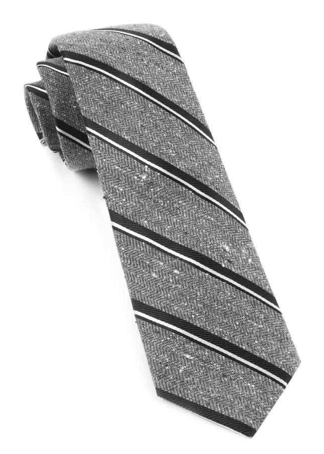 Spirit Stripe Black Tie