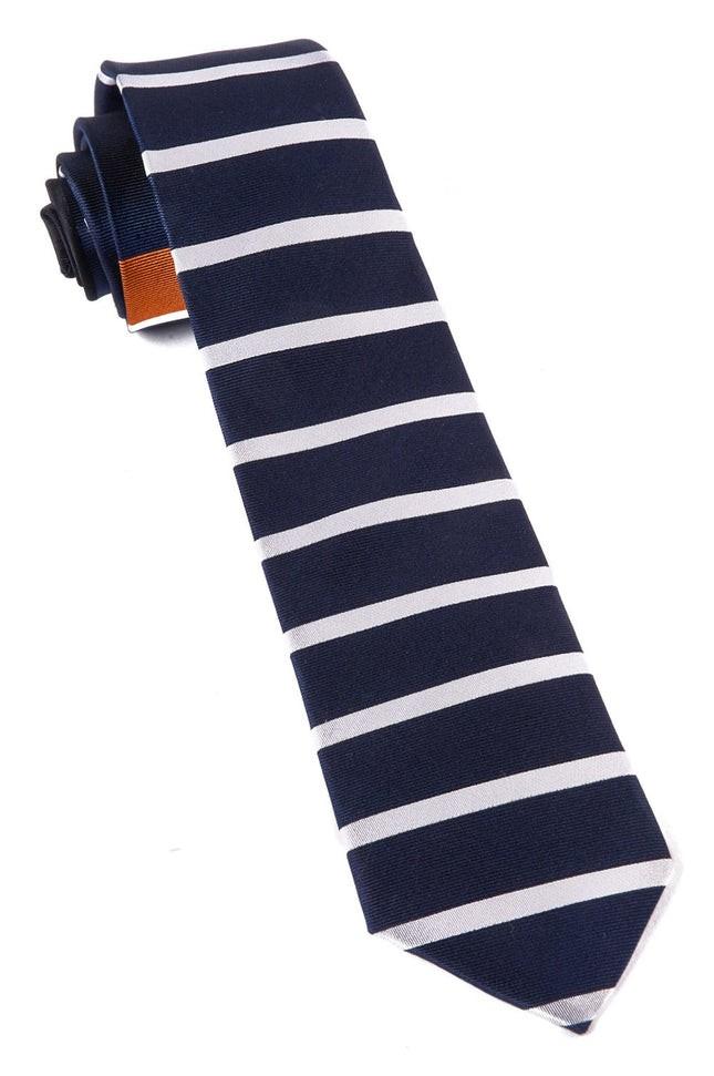 Extended Stripes Orange Tie