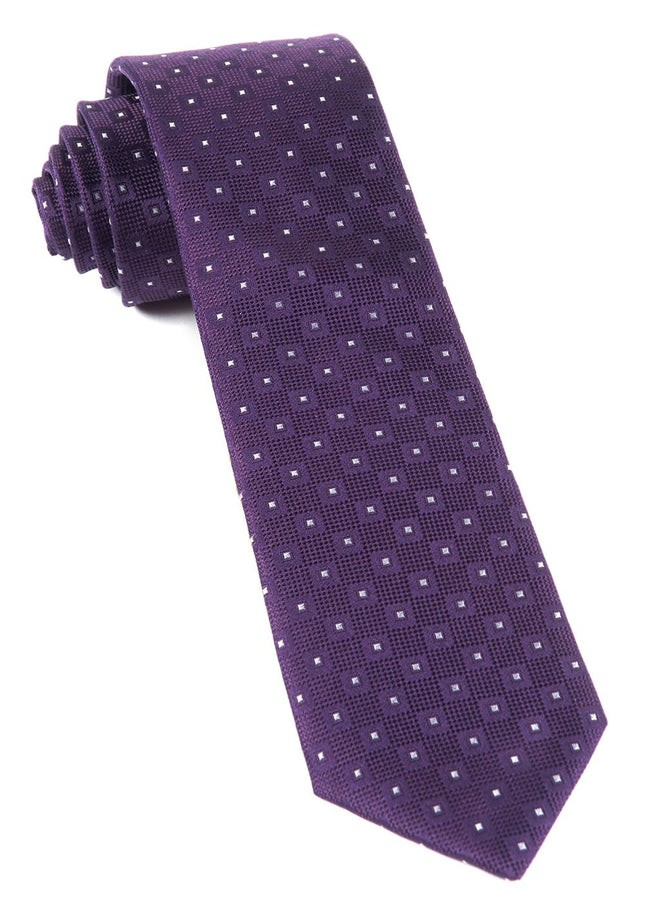 Four Sided Eggplant Tie