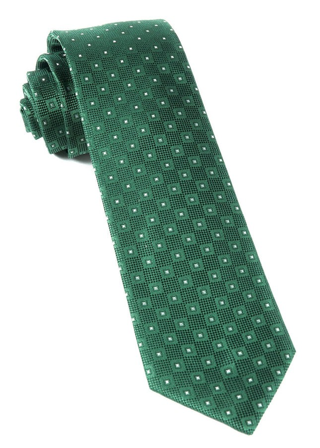 Four Sided Kelly Green Tie