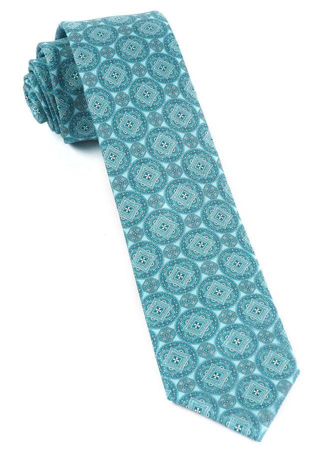 Medallion March Aqua Tie