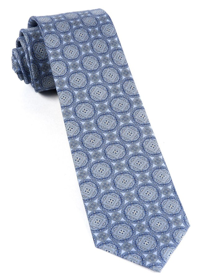 Medallion March Sky Blue Tie