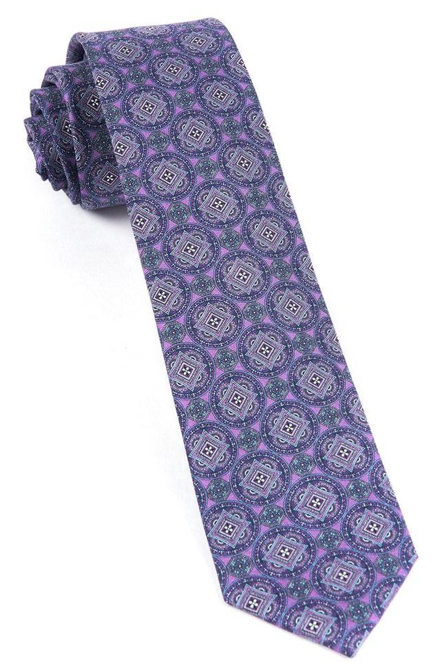 Medallion March Wisteria Tie