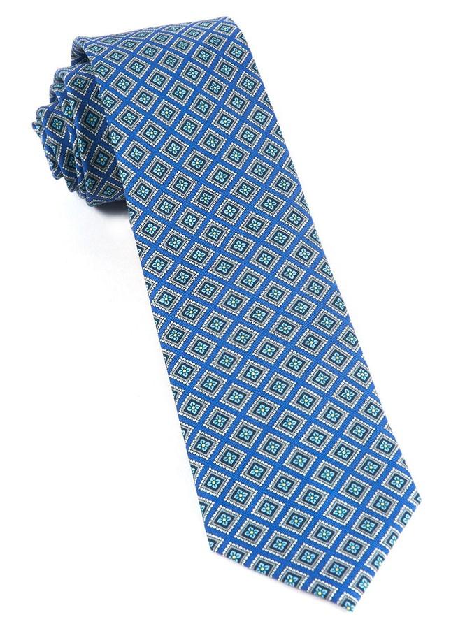 Silk Squarework French Blue Tie