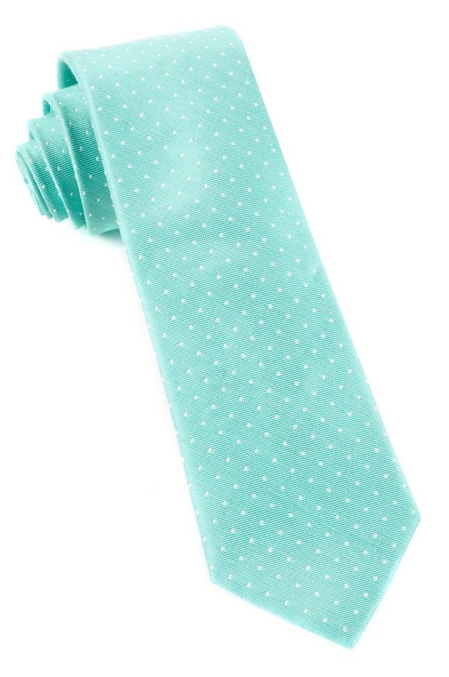 Destination Dots Mint Tie