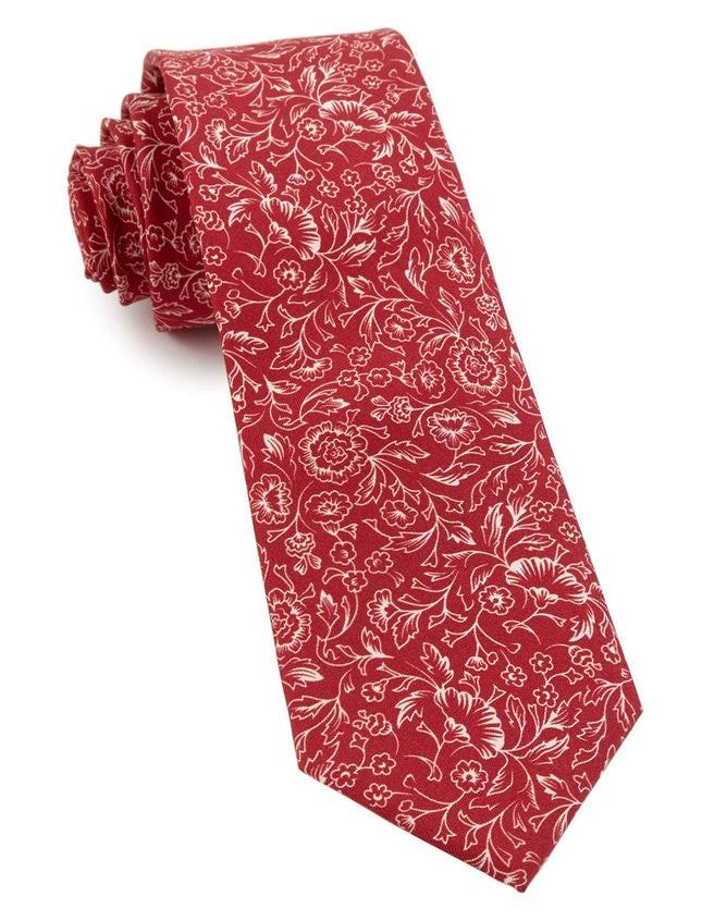 Bracken Blossom Red Tie