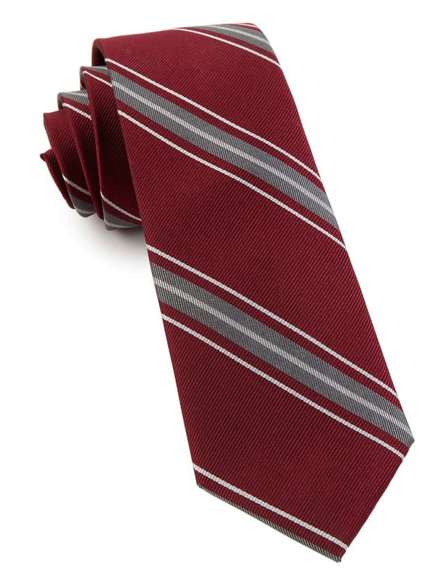 Detour Stripe Burgundy Tie
