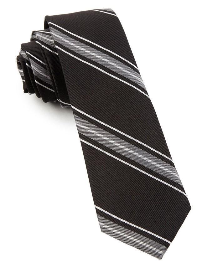 Detour Stripe Black Tie