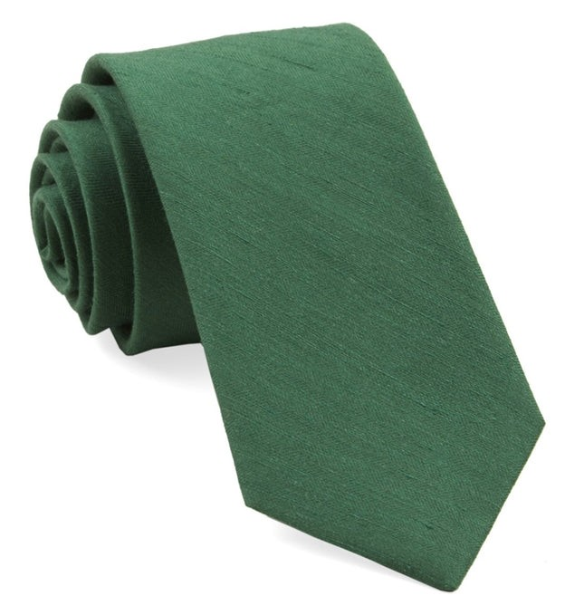 Linen Row Grass Green Tie