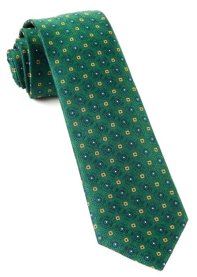 Midtown Medallions Hunter Green Tie