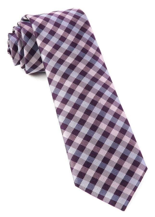 Polo Plaid Plum Tie