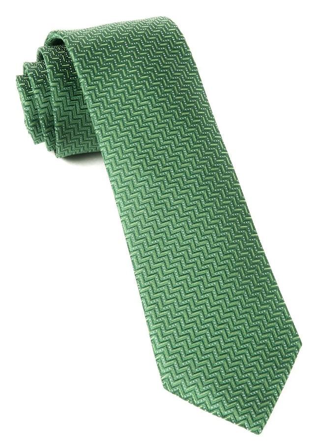 Right Angle Kelly Green Tie