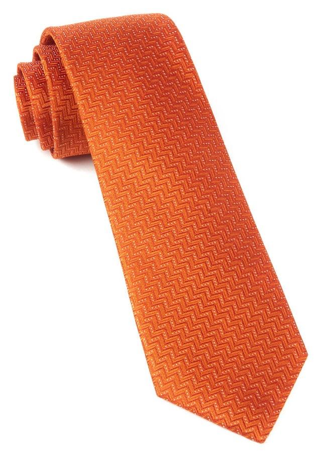 Right Angle Orange Tie