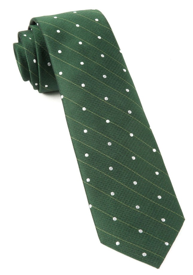 Ringside Dots Grass Green Tie