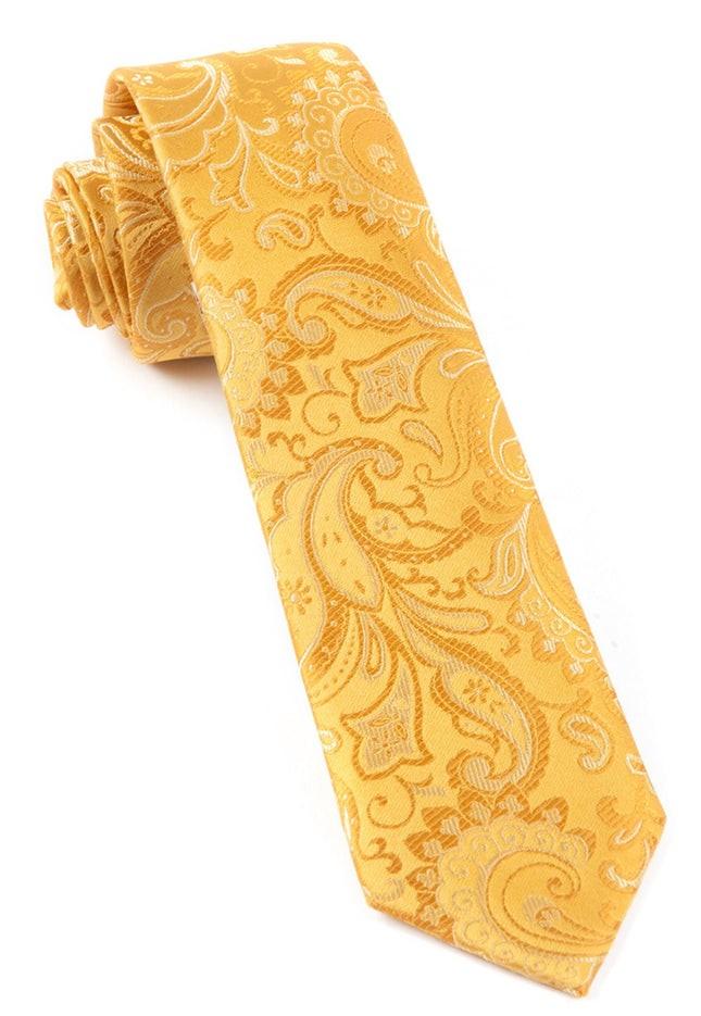 Custom Paisley Gold Tie