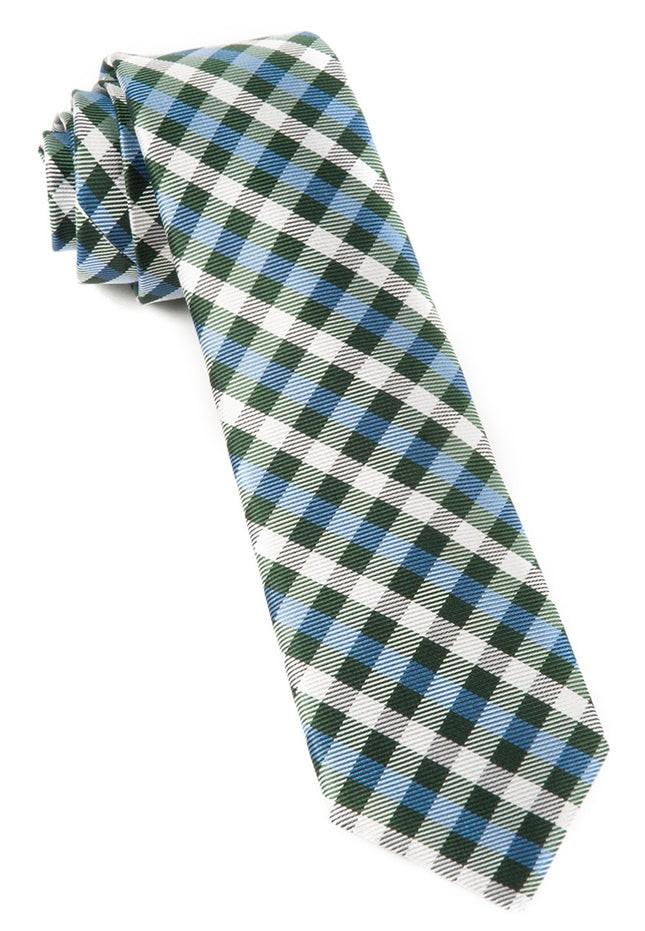 Polo Plaid Green Tie