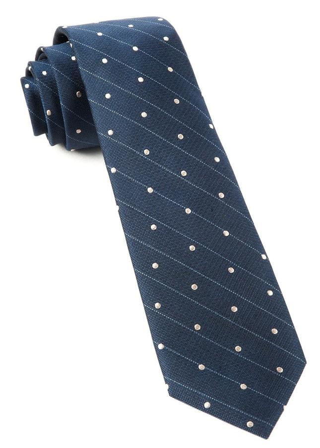 Ringside Dots Deep Slate Blue Tie