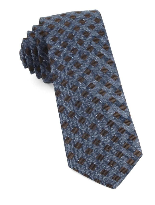 Cement Checks Brown Tie