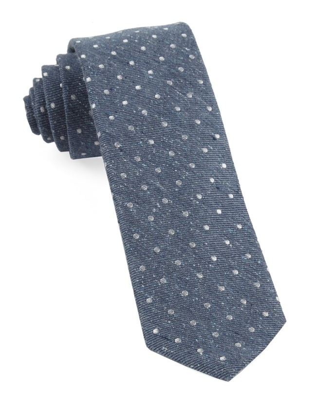 Knotted Dots Serene Blue Tie