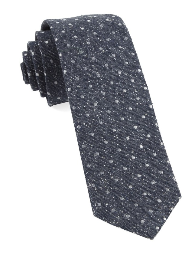Knotted Dots Navy Tie