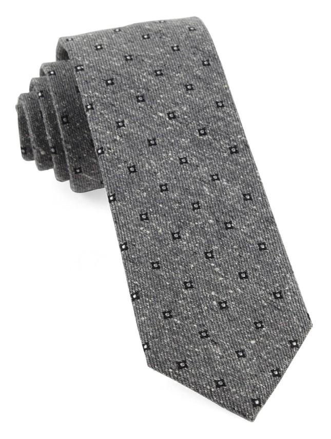 Medallion Ridges Grey Tie