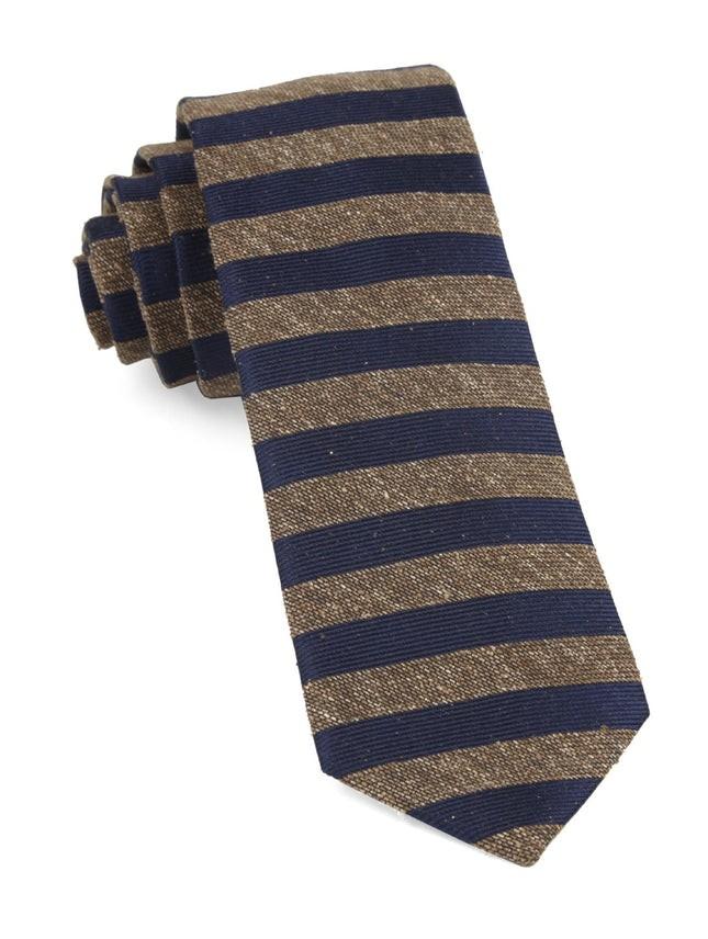 Meter Stripe Brown Tie