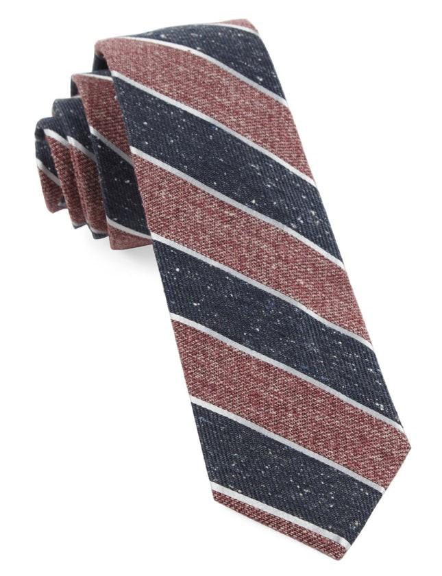 Splattered Repp Stripe Light Raspberry Tie