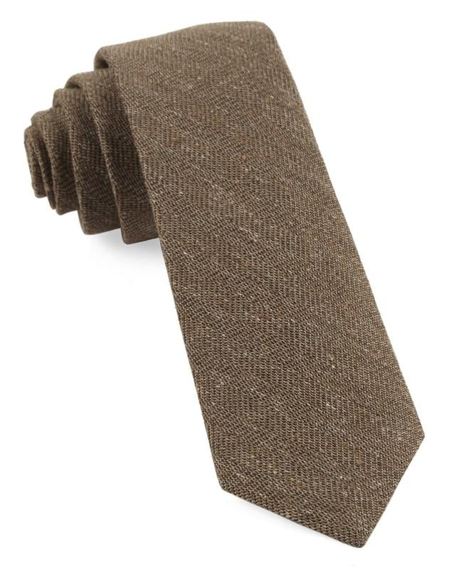 Threaded Zig-Zag Brown Tie
