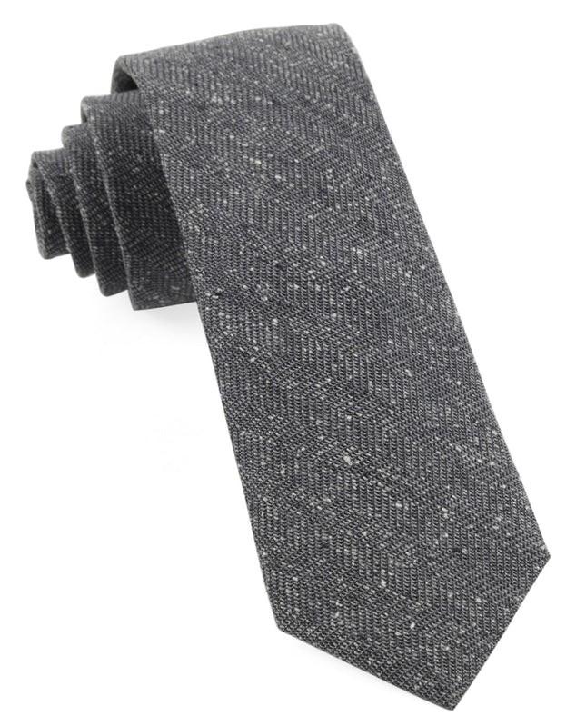 Threaded Zig-Zag Grey Tie