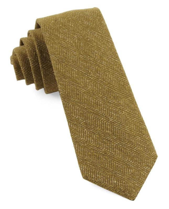 Threaded Zig-Zag Mustard Tie