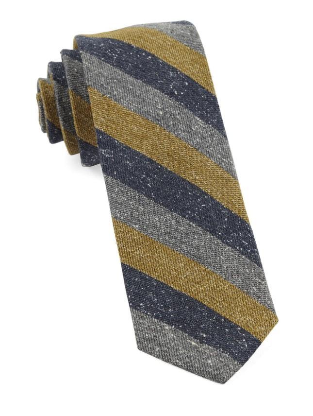 Varios Stripe Mustard Tie