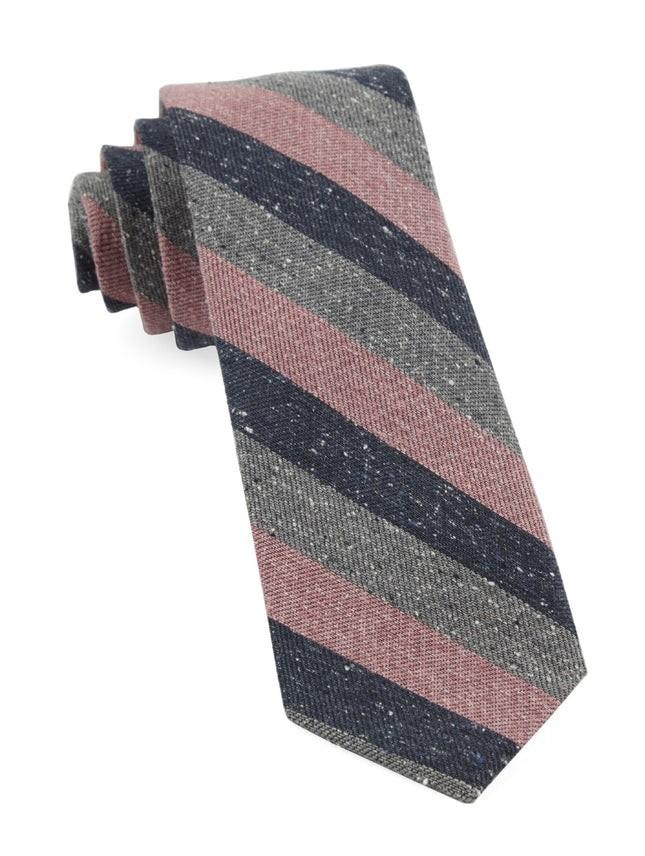 Varios Stripe Pink Tie