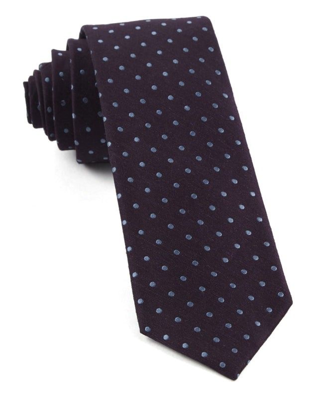 Dotted Dots Eggplant Tie