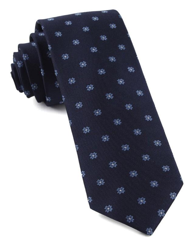 Primrose Flowers Light Blue Tie