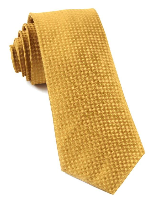 Check Mates Mustard Tie