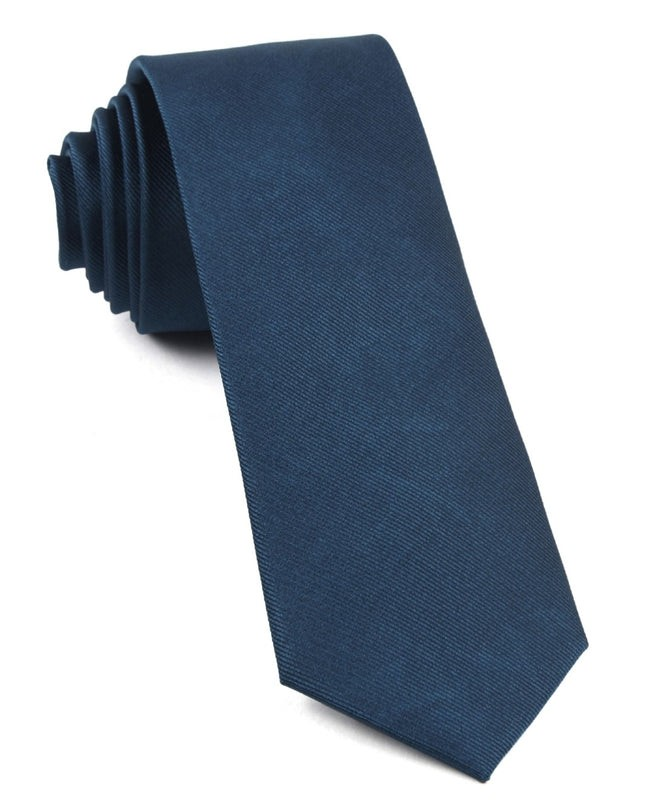 Grosgrain Solid Teal Tie