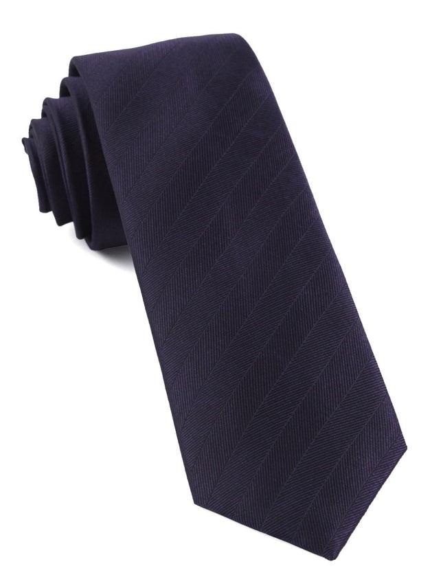 Herringbone Vow Eggplant Tie