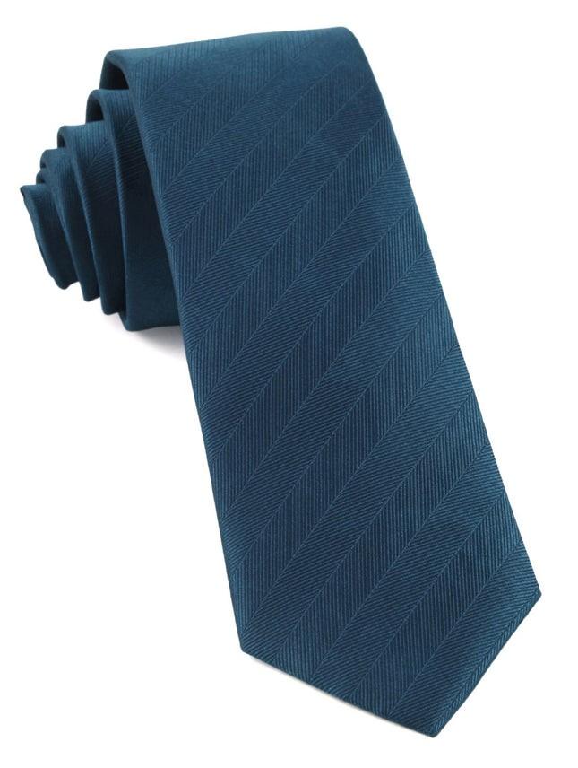 Herringbone Vow Teal Tie