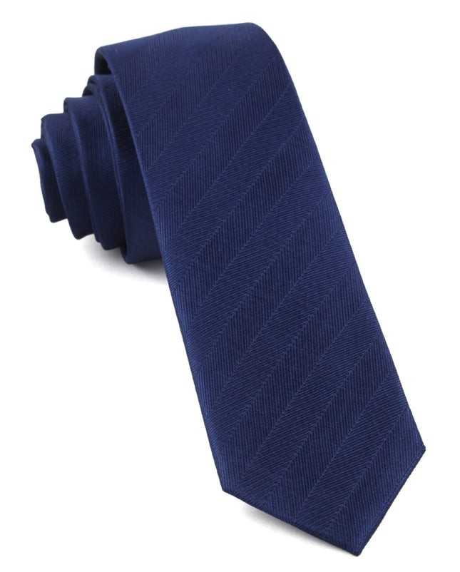 Herringbone Vow Classic Blue Tie
