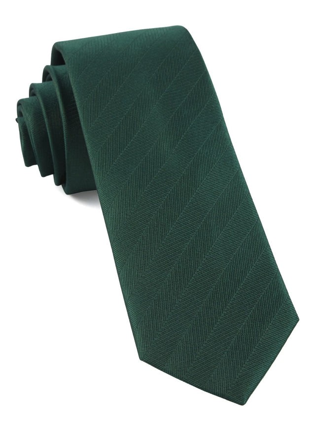 Herringbone Vow Hunter Green Tie