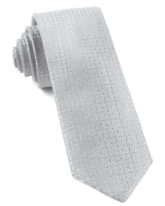 Opulent Light Silver Tie