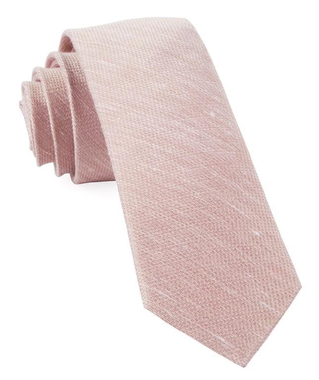 Jet Set Solid Blush Tie
