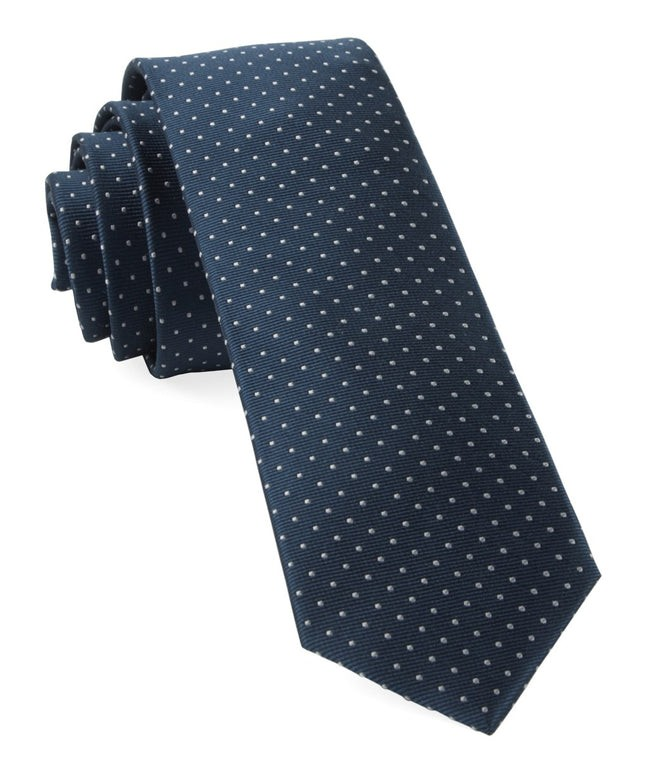 Mini Dots True Navy Tie