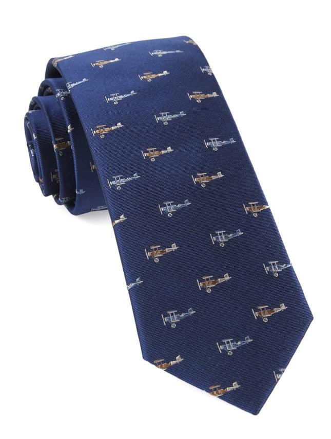 Airplane Fleet Navy Tie